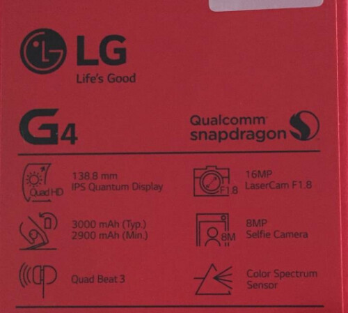 Images from the LG G4 box