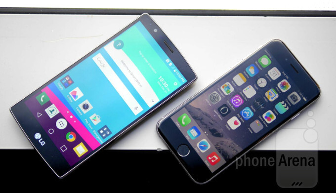 LG G4 vs Apple iPhone 6: first look