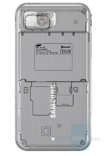 A867's sketch remind of the OMNIA - New information on Samsung phones for AT&T
