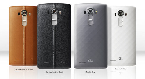 LG G4 in black leather