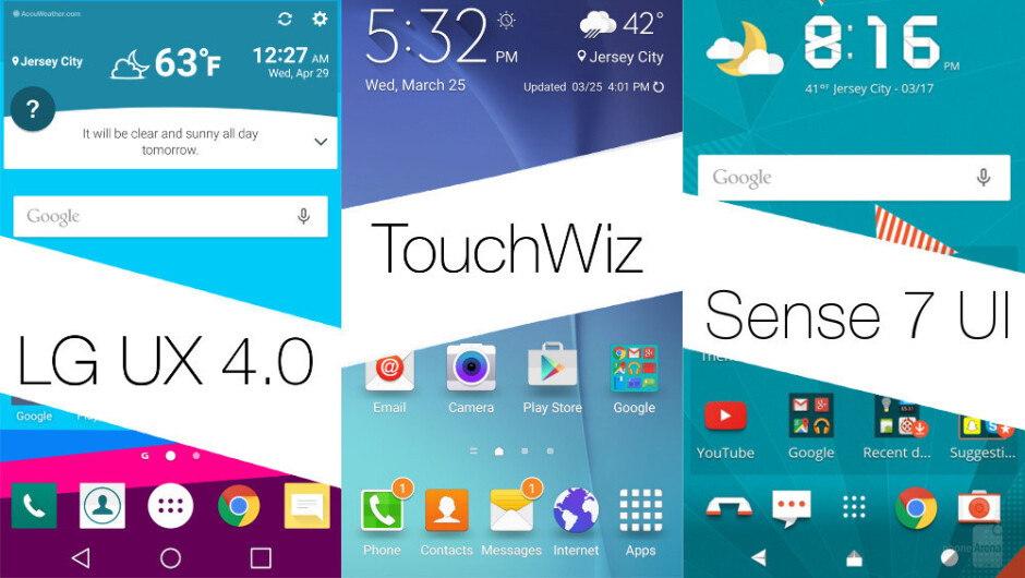 LG UX 4.0 vs new TouchWiz vs Sense UI 7: UI comparison, vote for the better one here!