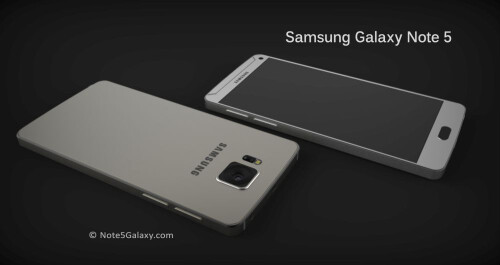 Samsung Galaxy Note 5 concept renders