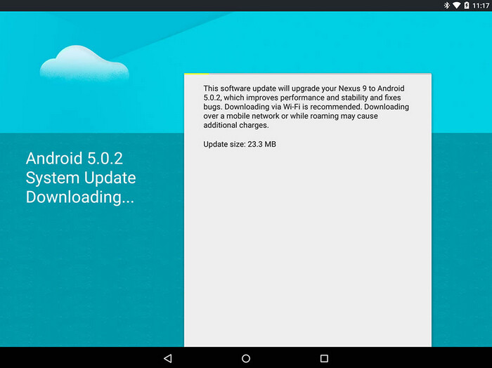 Nexus 9 receives update today to Android 5.0.2 - Nexus 9 finally is updated to Android 5.0.2; tablet is still well behind other Nexus tablets