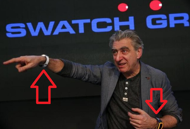 Swatch CEO Hayek shows off the beach volleyball-centric Touch Zero One smartwatch back in March - Has Swatch invented a smartwatch battery that lasts 6 months?