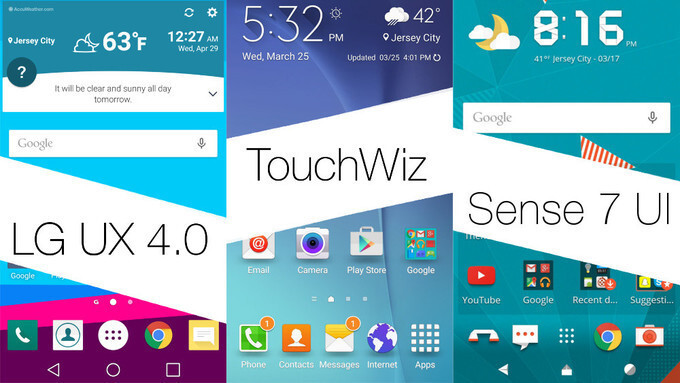 LG UX 4.0 vs new TouchWiz vs Sense UI 7: you chose the best one among them, here it is!