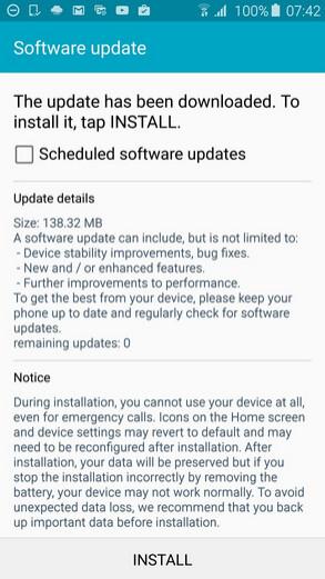 European Samsung Galaxy S6 receives an update - European Samsung Galaxy S6 receives update to repair memory issue