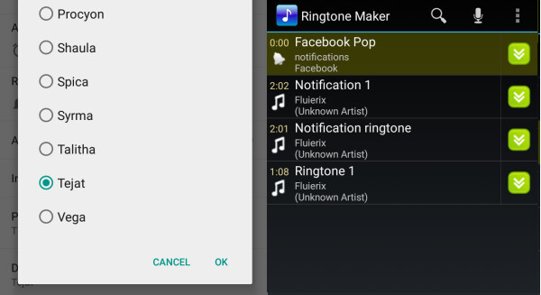 How to change the default notification sound in Android