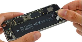 Apple iPhone battery, image courtesy of iFixit