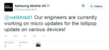 Samsung to send out micro-updates to fix bugs caused by the Android 5.0 update