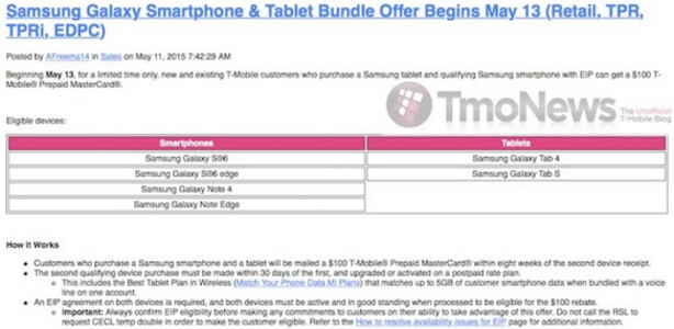 Leaked internal memo reveals T-Mobile's Samsung Galaxy phone and Tablet deal - Internal T-Mobile memo leaks special promotion for Samsung Galaxy devices starting May 13th