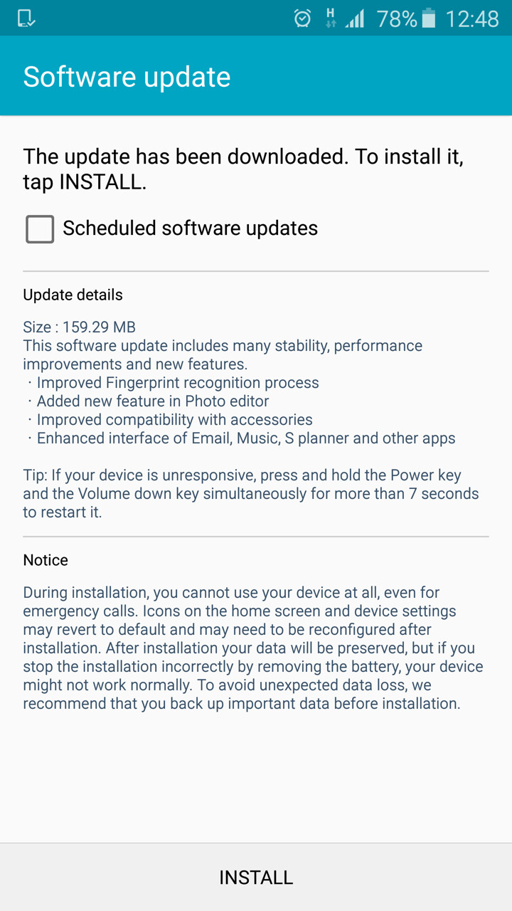 Galaxy S6, S6 edge across Europe & Asia now receive an OTA update: improved fingerprint scanning, more