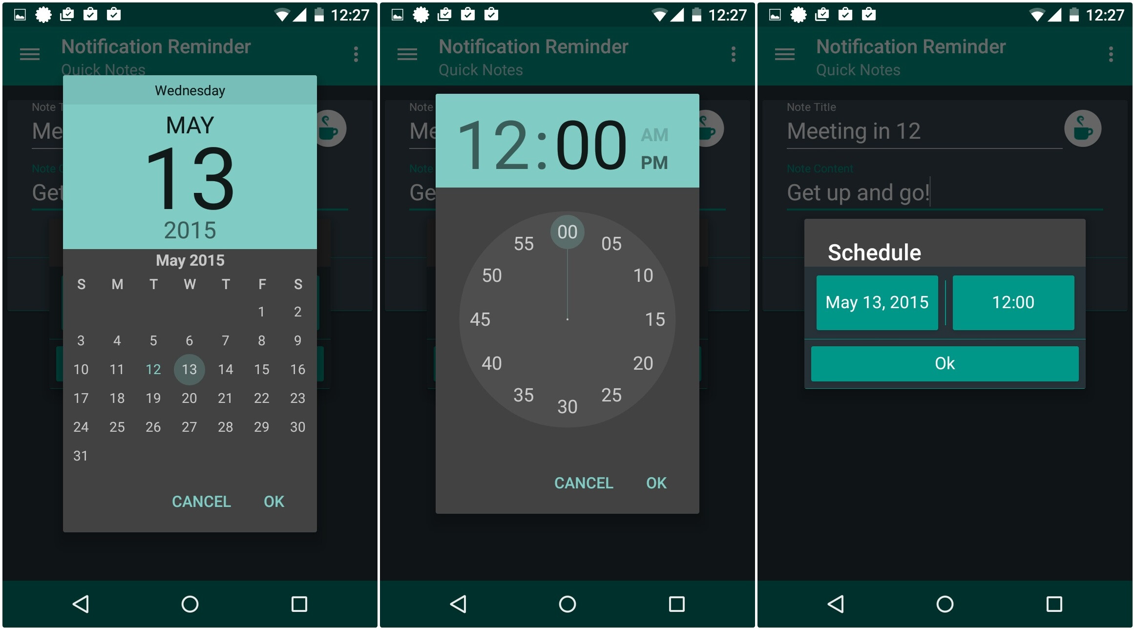 How to add quick glanceable notification reminders on android for How do i design an app