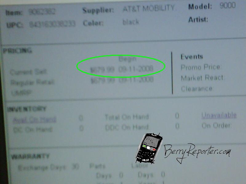 Best Buy's BlackBerry Bold pricing sheet leaked