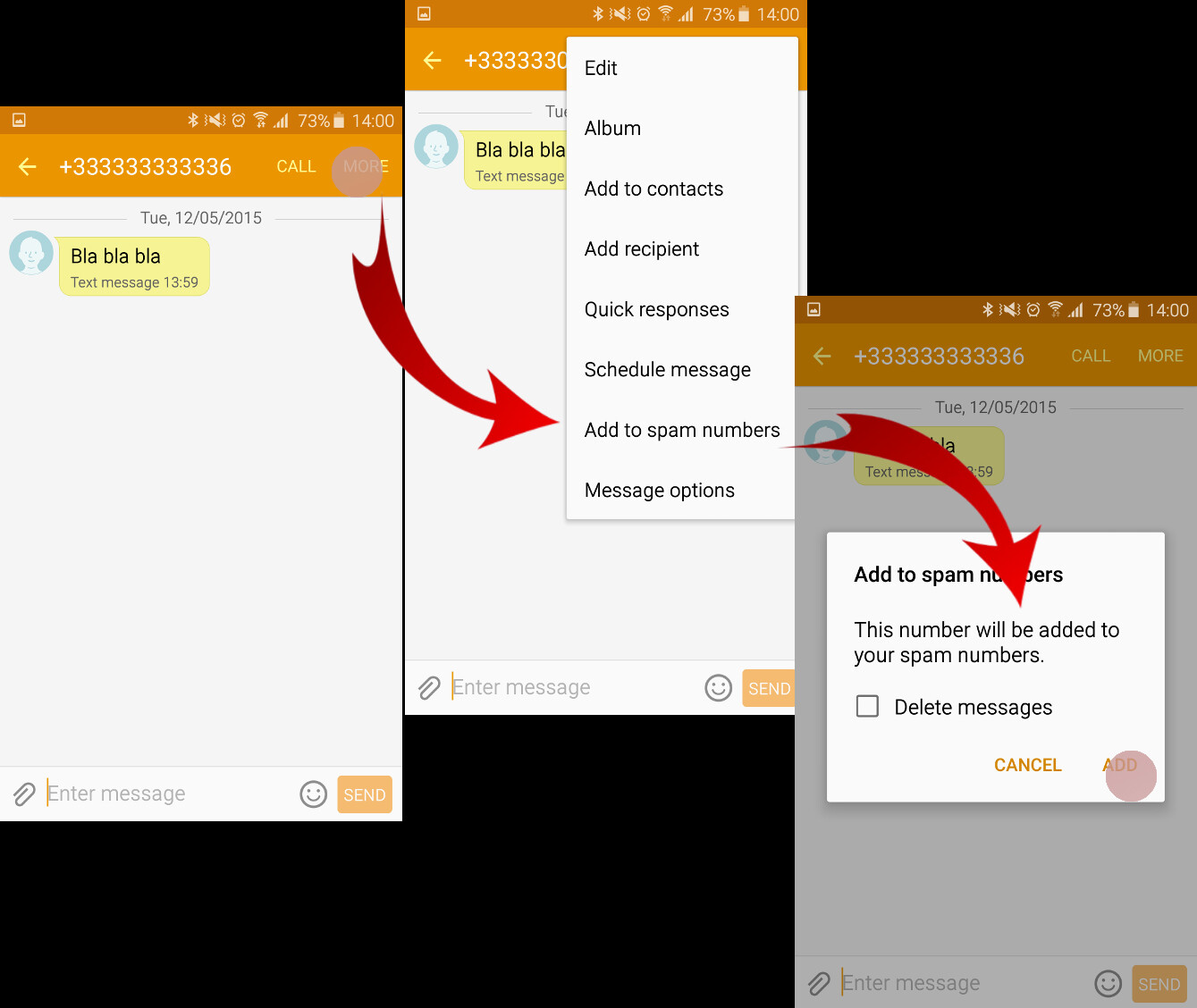 If A Certain Number Goes Over The Top With Sending You Texts, Open The  Conversation Android : How To Block