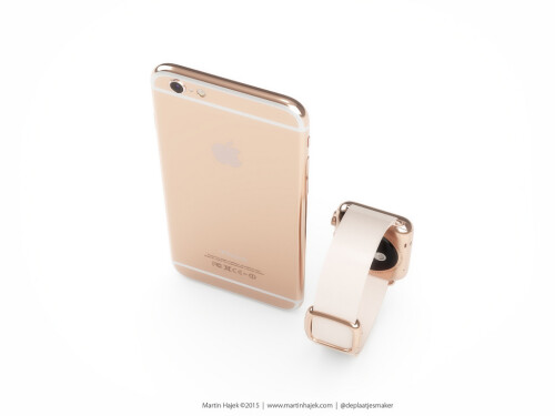 A concept for a rose-gold iPhone