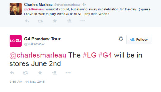 The LG G4 is tipped to launch June 2nd at T-Mobile - LG G4 to arrive at T-Mobile on June 2nd?