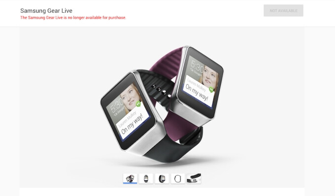 Samsung's only Android Wear smartwatch disappears from Google Play