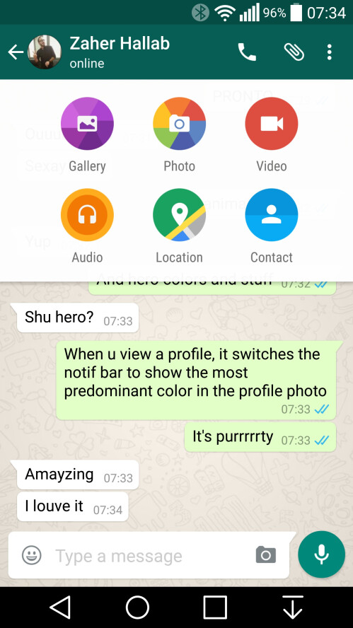 WhatsApp is now fully employing Material Design