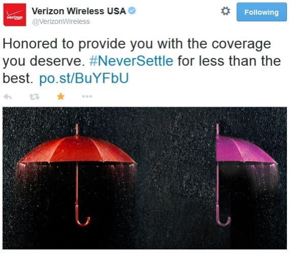 Verizon trolls T-Mobile in its backfired #NeverSettleforVerizon campaign