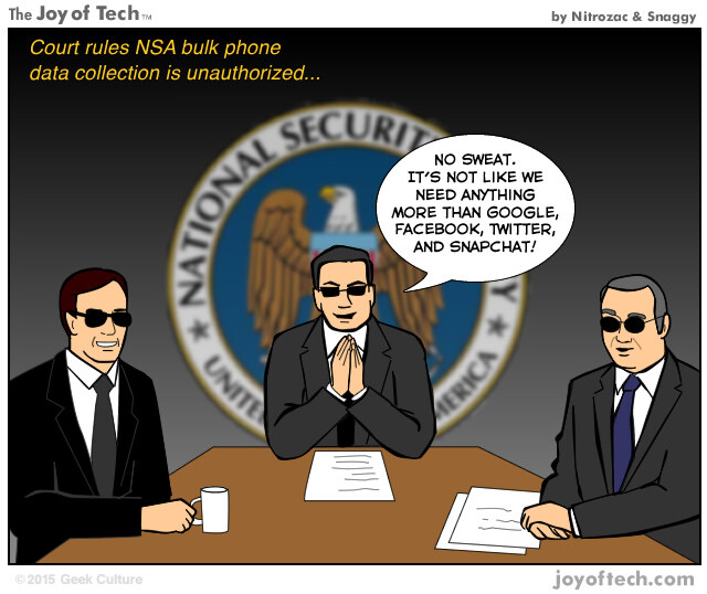 Humor: The NSA has a back-up plan in the wake of the court ruling on illegal data collection