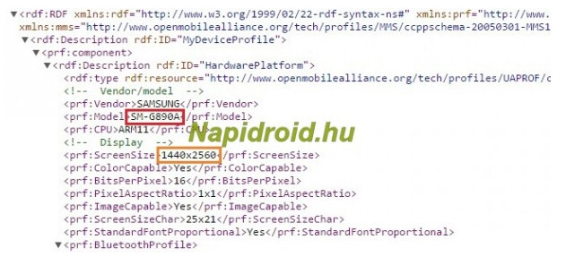 User Agent profile confirms QHD screen for the Samsung Galaxy S6 Active - User Agent profile confirms QHD screen for Samsung Galaxy S6 Active