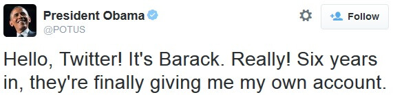President Obama has his own Twitter account, @POTUS will stay with the office