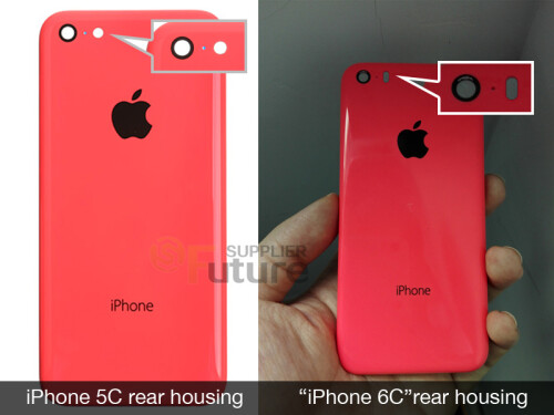 Older leak, supposedly showing us the rear housing of the iPhone 6c