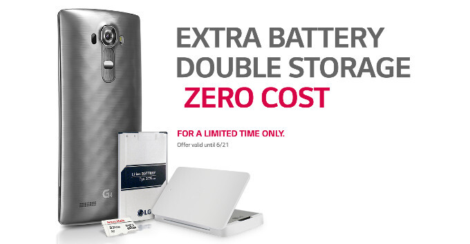LG giving out 32GB microSD card, an extra battery, and a charging cradle to US G4 buyers