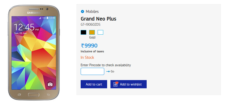 The Samsung Galaxy Grand Neo Plus is now available in India - Samsung Galaxy Grand Neo Plus released in India for $157 USD
