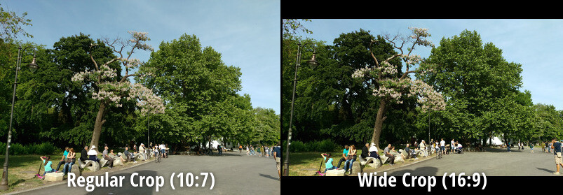 È consigliabile modificare impostazione del rapporto di aspetto della fotocamera a 10: 7