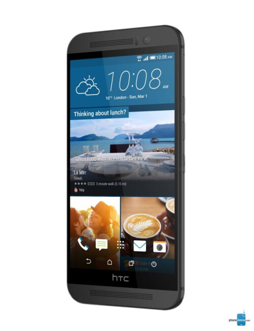 HTC One M9, 68.52% screen-to-body ratio