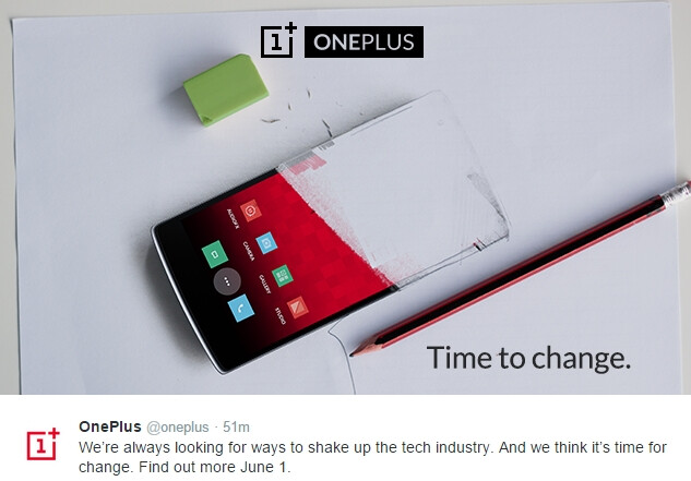 """OnePlus will bring a """"change"""" on June 1: probably the OnePlus 2"""