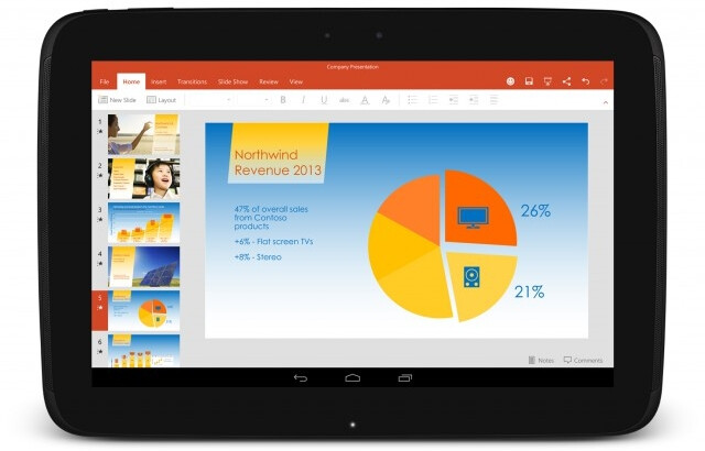 Sony, LG and others will pre-install Microsoft Office and Skype on their Android tablets