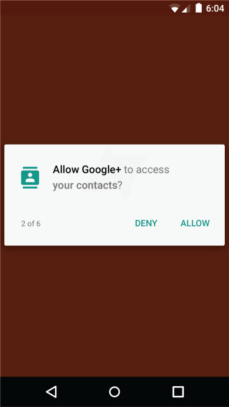 App permissions coming to Android M