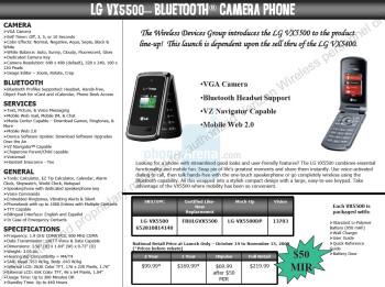 LG VX5500 coming soon to Verizon