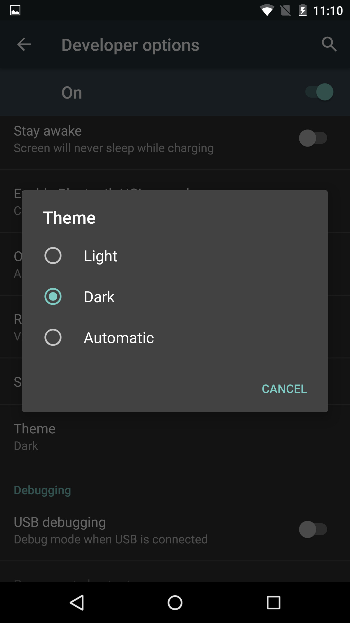 Finally Android M Incorporates a Dark Theme for The Interface
