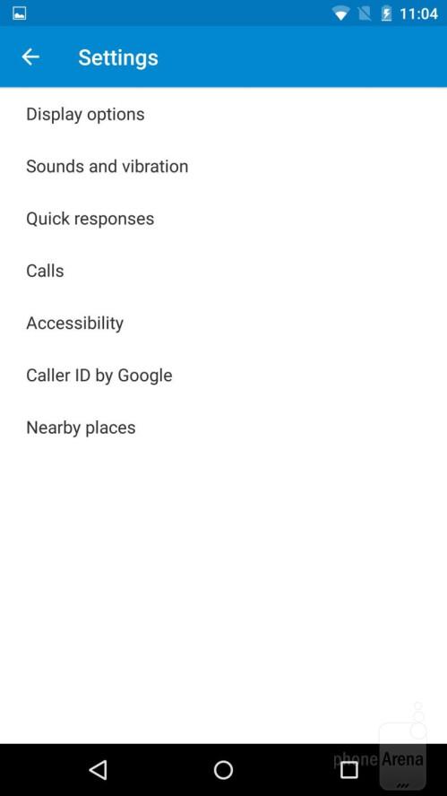 Phone app settings