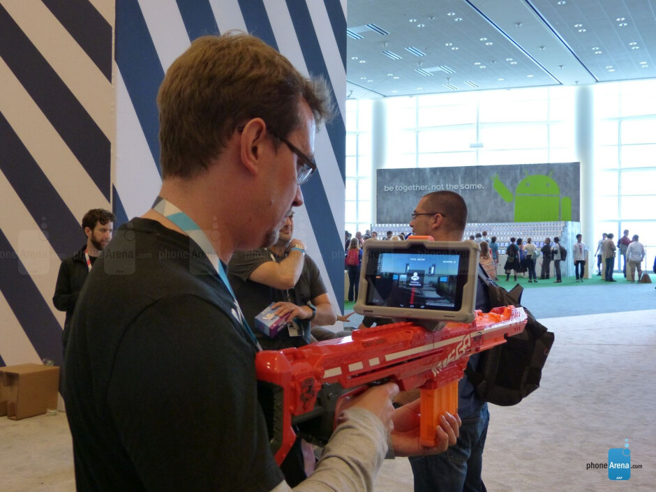 Project Tango was on-hand, and what better way to show it off than to create an alien shooter game with unlimited ammo? - Google I/O review: ATAP – a small band of pirates, all the Android, and storage wars