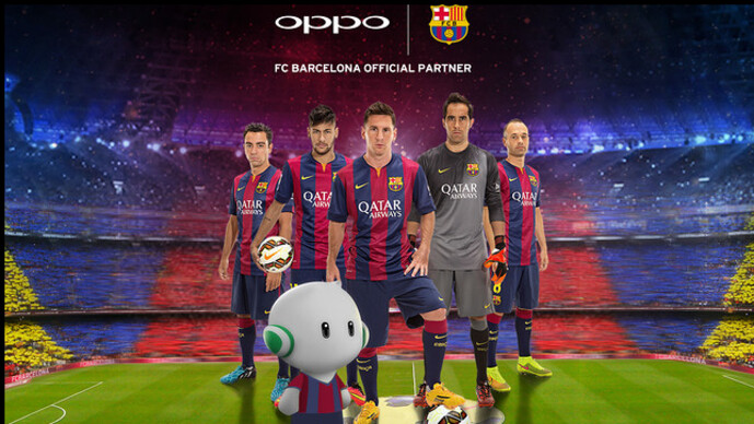 Oppo signs a three year partnership deal with FC Barcelona - Oppo agrees to three year partnership with FC Barcelona