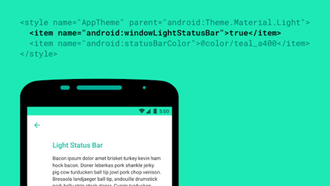 No longer a secret: light-colored status bars in Android M will come with dark-colored icons