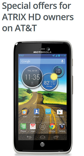 Motorola wants to make it up to you for not updating the Atrix HD to Android 4.4 - Owners of the Motorola Atrix HD get $100 off the second-gen Motorola Moto X Pure Edition