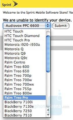 Sprint preparing the Palm Treo Pro?