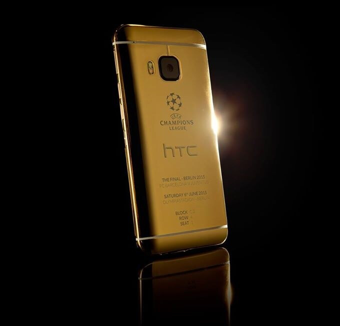 24ct gold HTC One M9 commemorates the UEFA Champions League Final