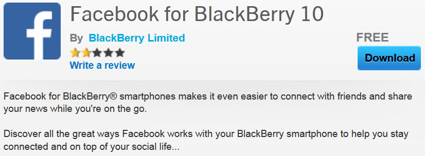 An updated version of Facebook is now available for BlackBerry 10 users - Updated version of Facebook escapes the Beta Zone, ready for BlackBerry 10 devices in App World
