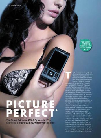 Sony Ericsson C905's ad shot on a C905