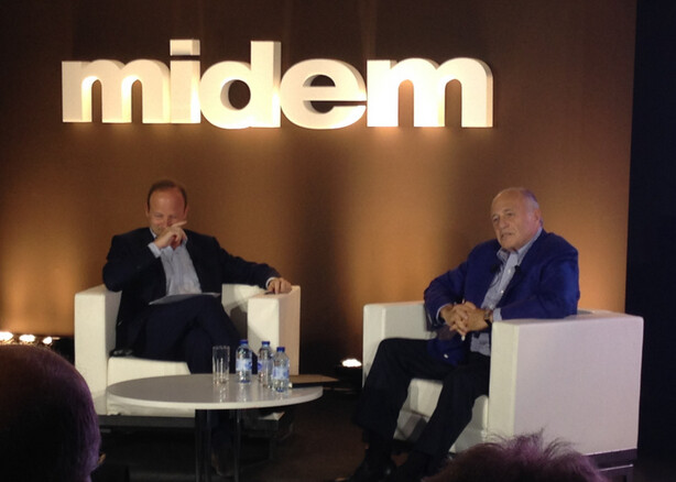 Sony Music CEO Doug Morris (at right) confirms tomorrow's unveiling of Apple's new streaming music service - Sony Music CEO confirms that Apple will introduce its streaming music service tomorrow
