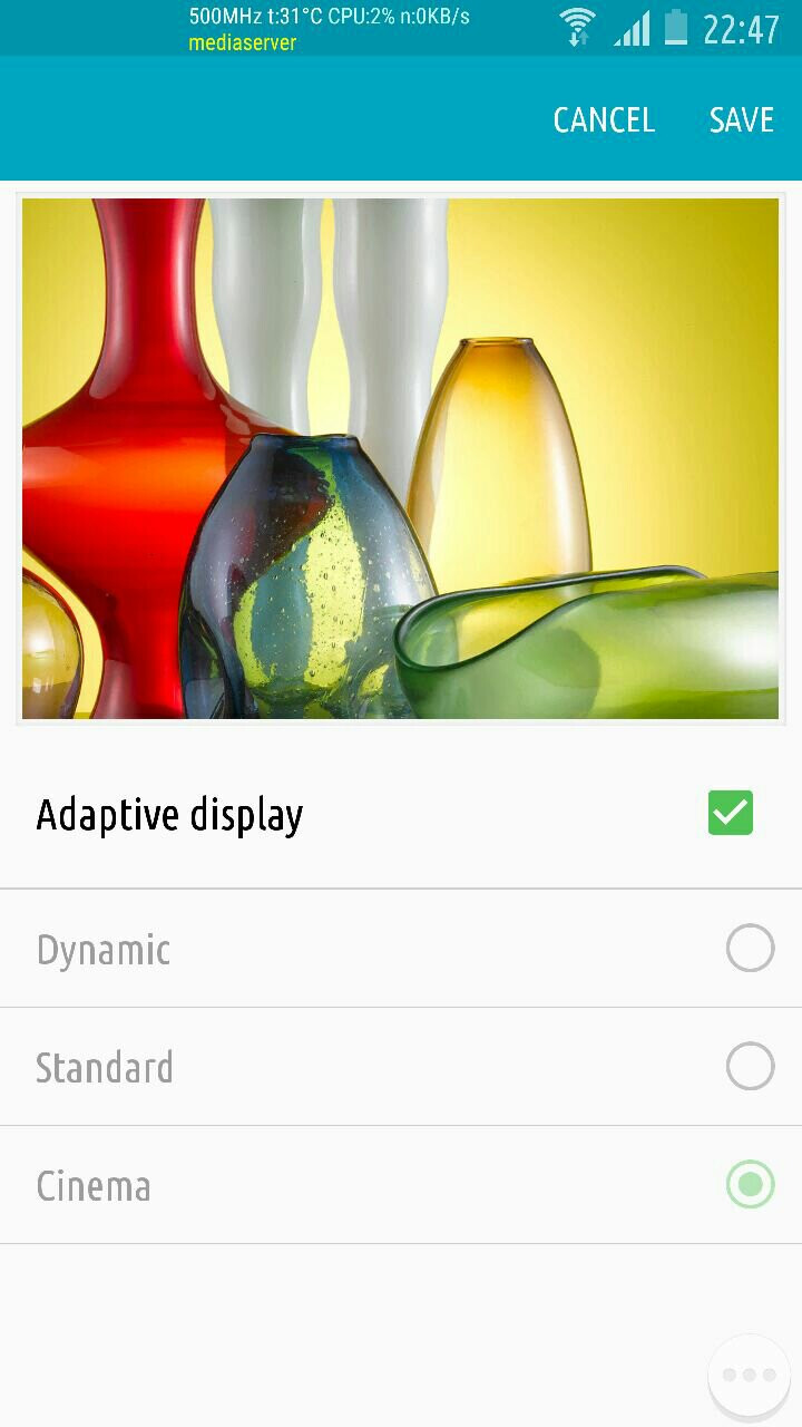 Default Adaptive Display - How to unlock the hidden, less saturated Adaptive Display mode on your Galaxy S6 and Note 4