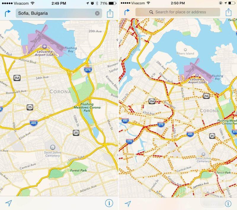 Traffico in Mappe di Apple
