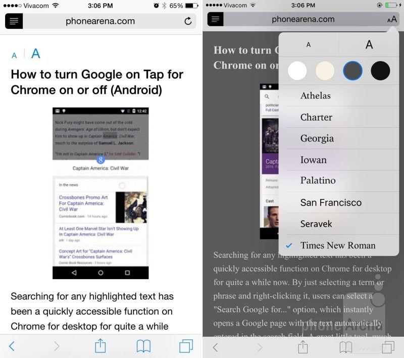 Migliorata la modalità Reader in Safari