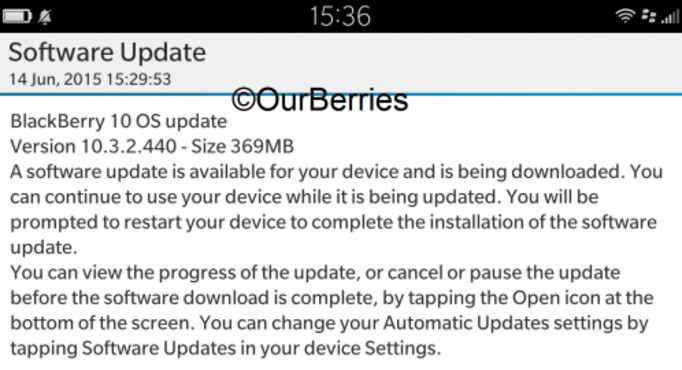 BlackBerry OS 10.3.2 starts rolling out - BlackBerry 10.3.2 update starts to surface